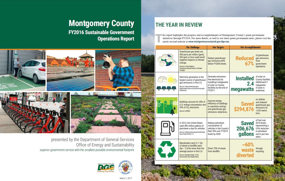 2016 Sustainable Government Operations Report