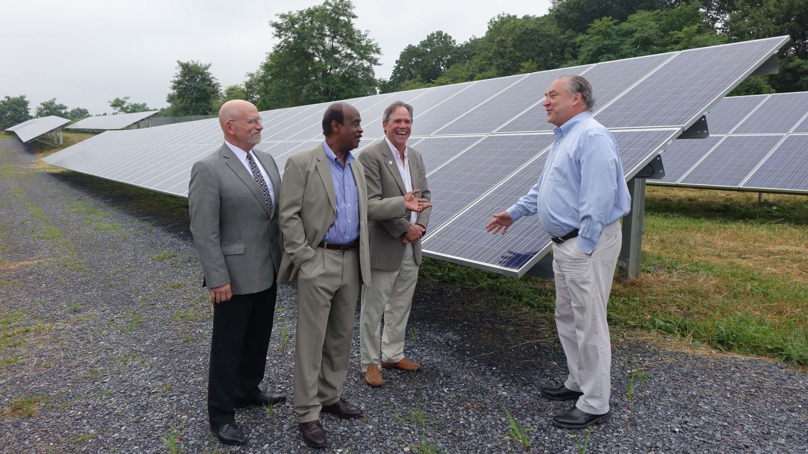 Celetrating the largest solar project at County's Correctional Facility