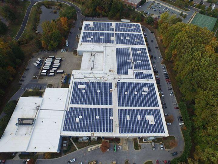 Solar Panels at Department of Liquor Control Warehouse
