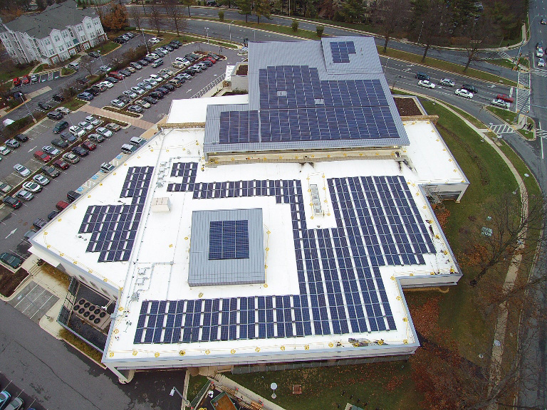 Solar Panels at Gaithersburg Library
