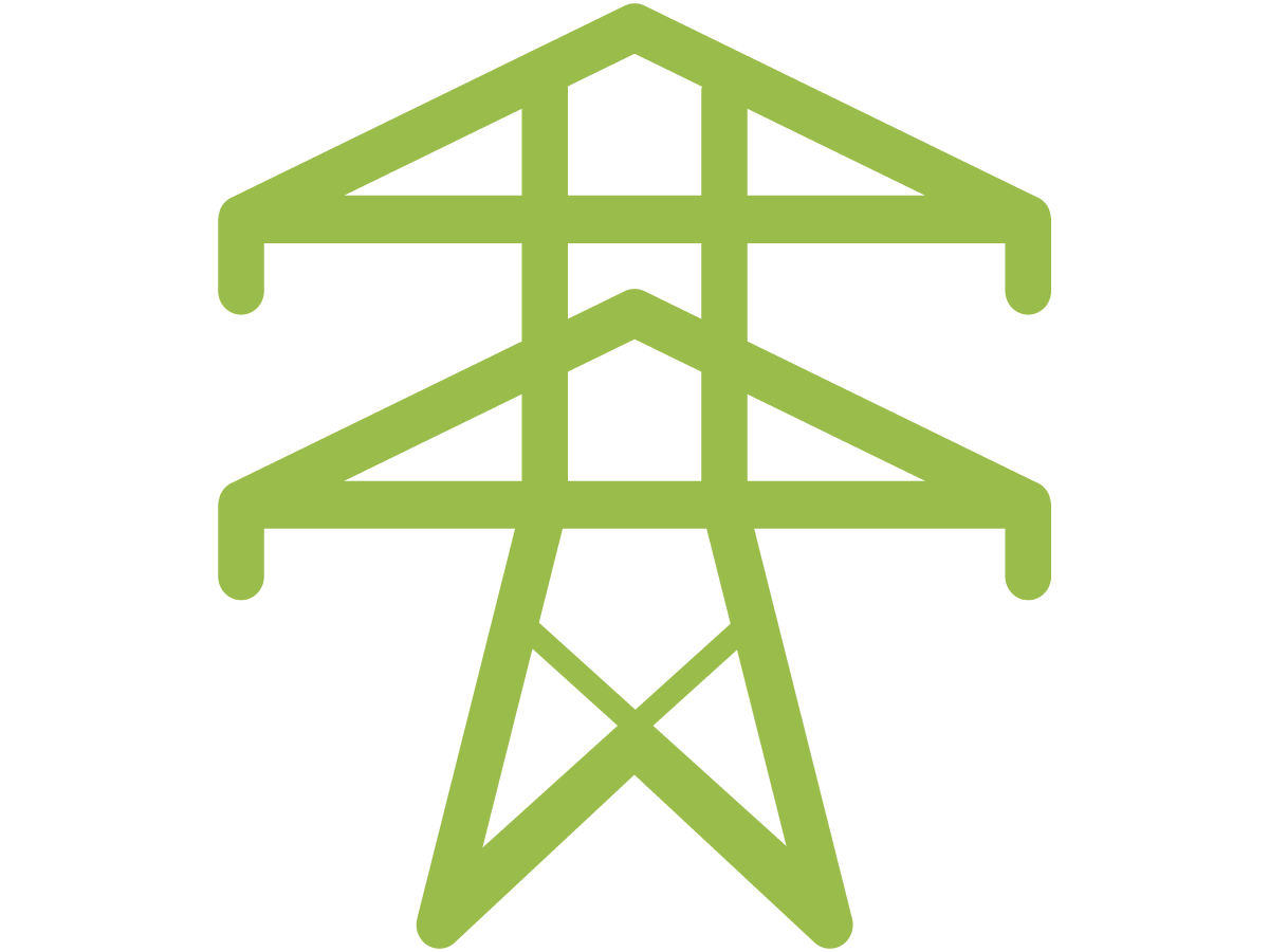 Green power tower icon