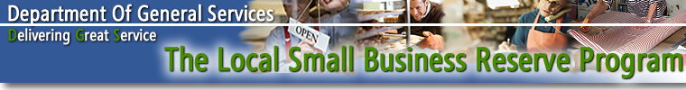 Department of General Services, The Local Small Business Reserve Program