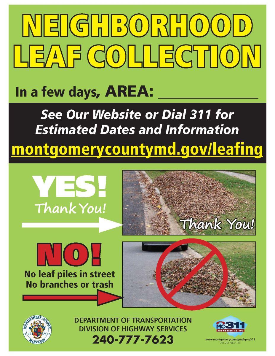 leaf vacuum program mcdot highway services