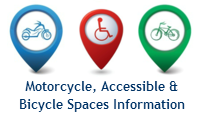 Bicycle, Motorcycle & Accessible Spaces