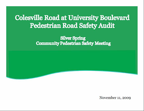 Colesville Road audit cover