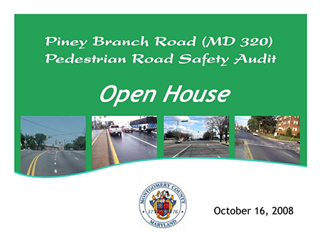 Piney Branch Road Pre-PRSA Stakeholder Presentation