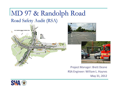 MD 97 and Randolph Rd Safety Audit