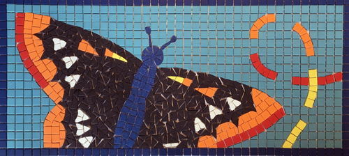 Mosaic of butterfly.