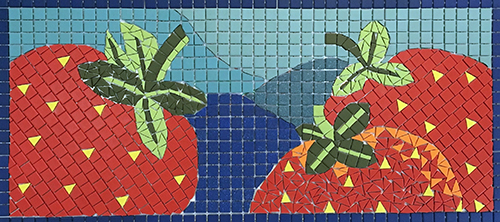 Mosaic of strawberries.
