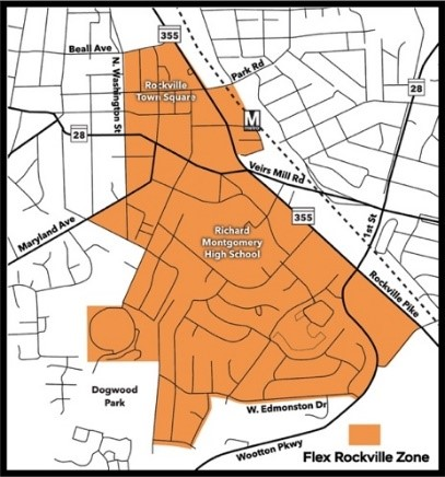 map of Rockville Zone