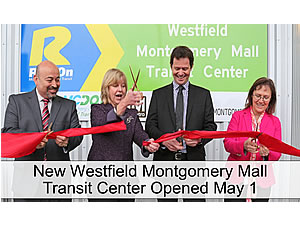 Westfield Montgomery Mall Transit Center opening