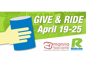 Ride On Give and Ride logo for April 19-25