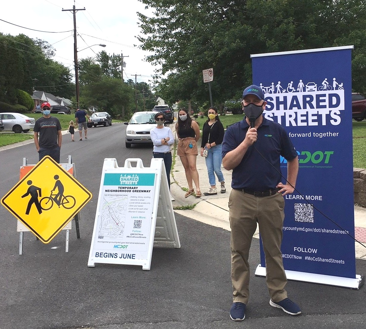Chris Conklin, MCDOT Director, at MCDOT's Shared Streets intitiative
