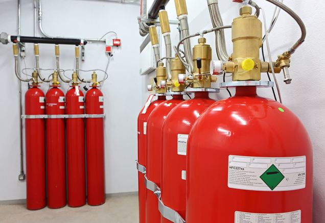 fire protection system tanks for a clean agent fire suppression system
