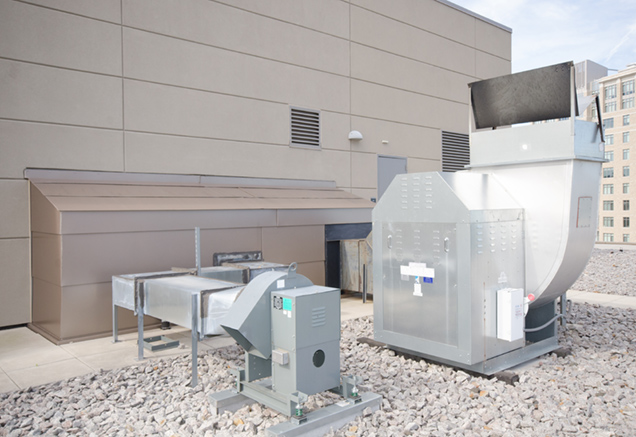 commercial mechanical equipment on rooftop