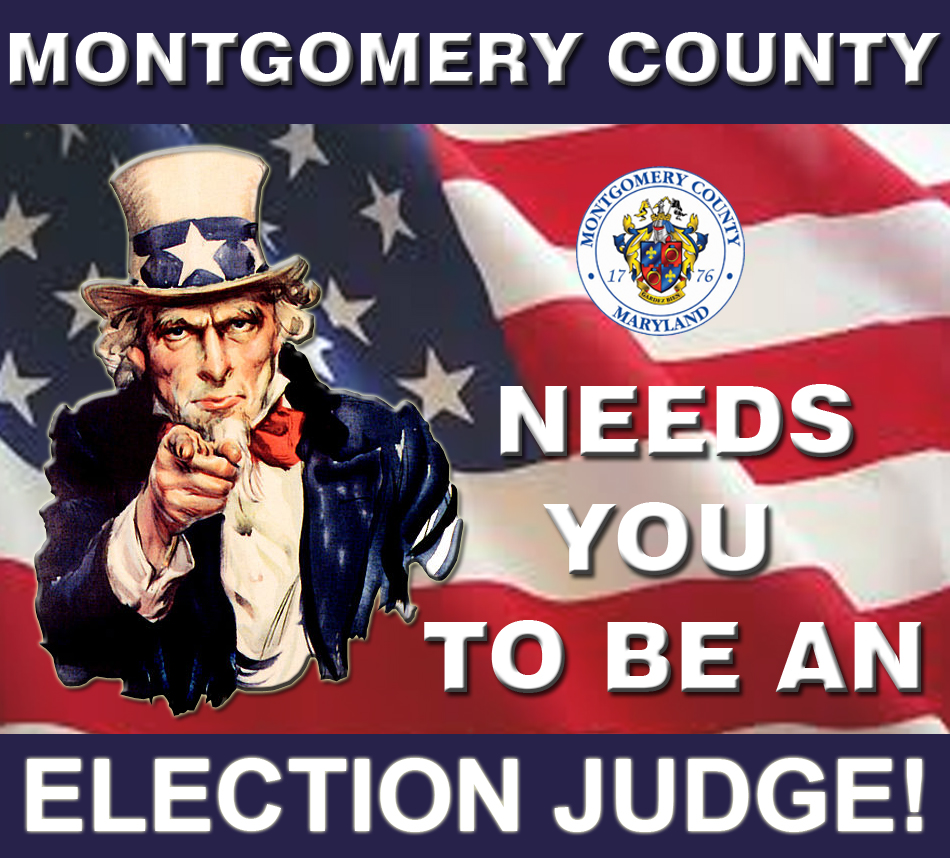Montgomery County Wants you to be an Election Judge
