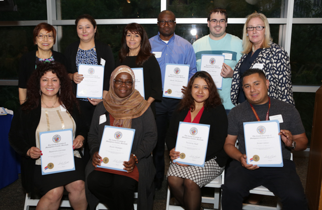 TESS Center staff receive certificates of appreciation