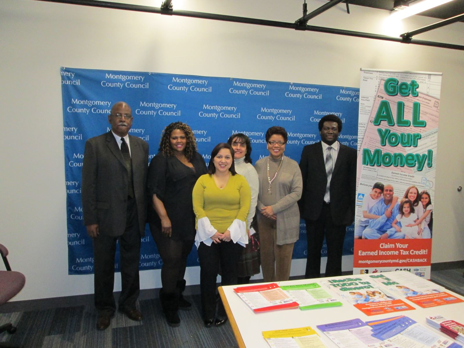 Board at Earned Income Tax Awareness Day Event