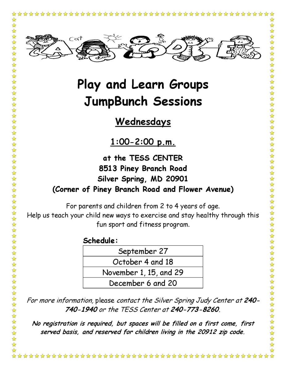 Montgomery county health and human services office of community tess center jump bunch fall 2017 dhlflorist Images