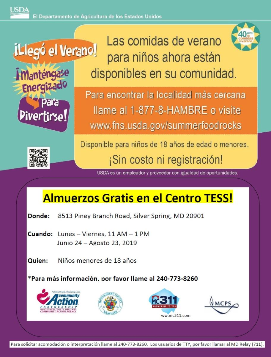 TESS Summer Meals Spanish Flyer