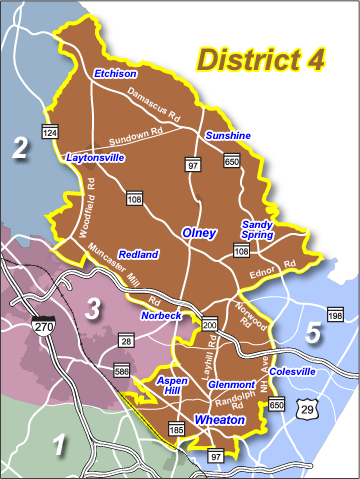 map of District 4