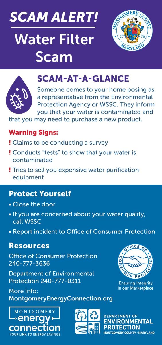 Water filter scam -rack-card-english
