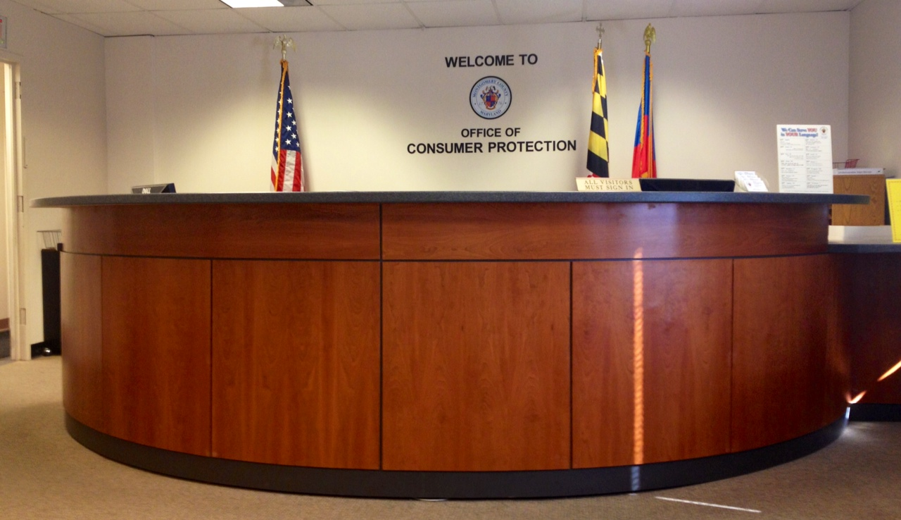 Image of OCP's reception desk