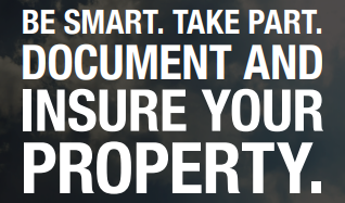 Graphic: Be Smart. Take Park. Document and Insure your property.