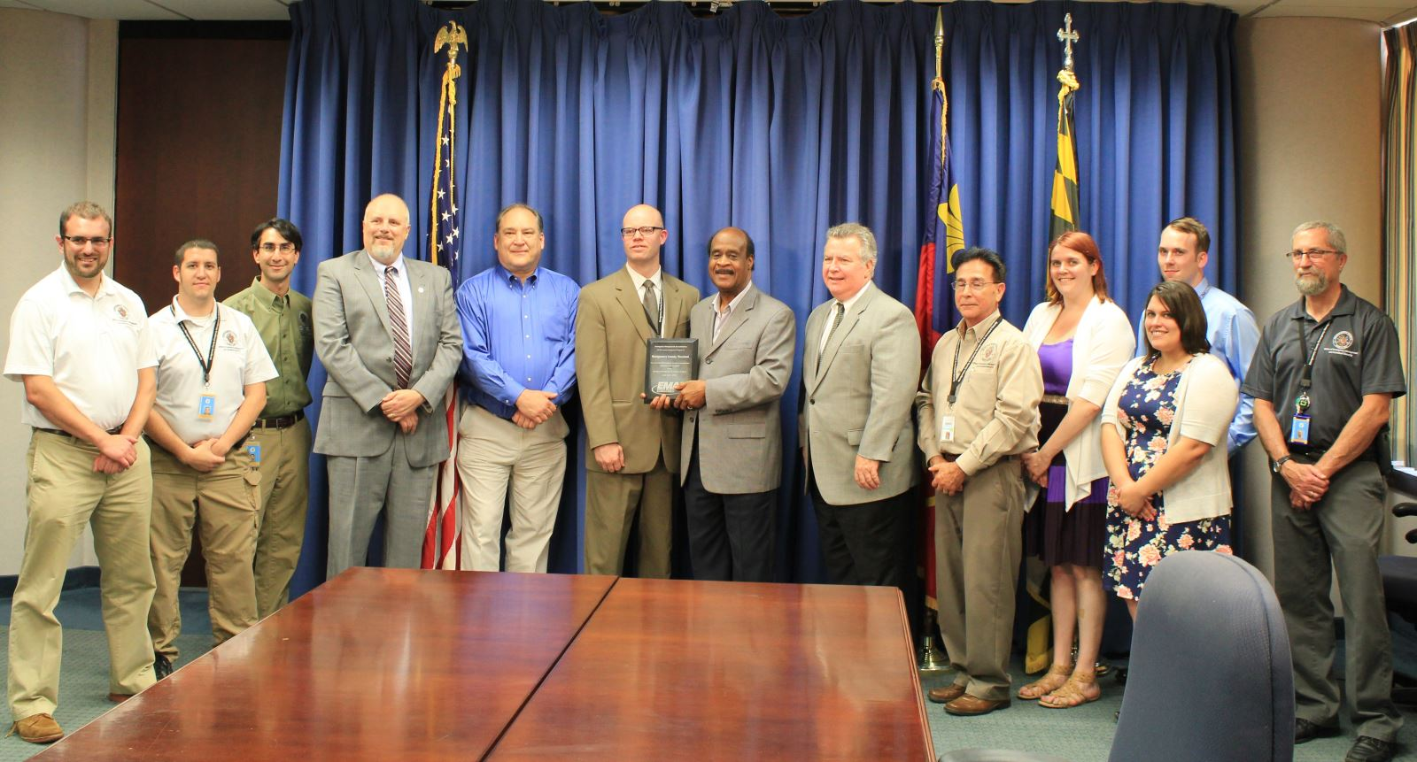 Montgomery County staff receiving Accreditation