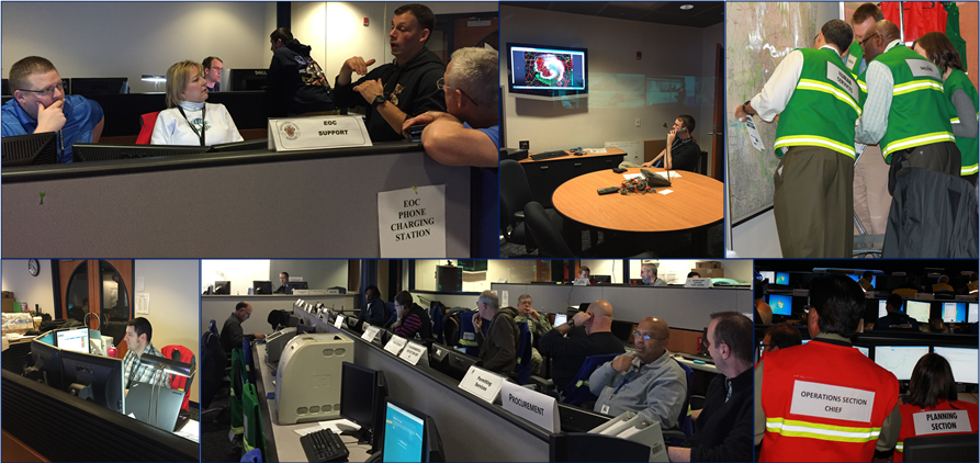 Emergency Operations Center Photo Collage