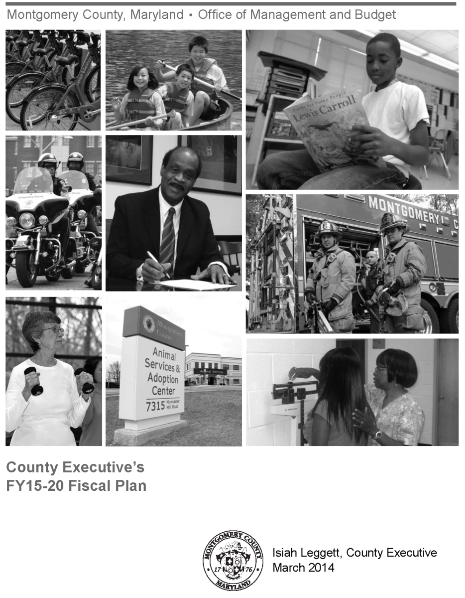 County Executive's FY15-19 Fiscal Plan cover