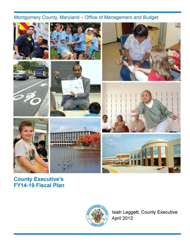 County Executive's FY14-19 Fiscal Plan cover