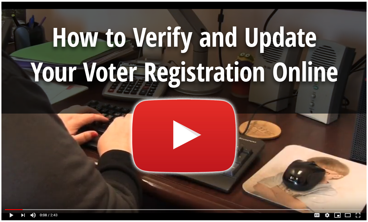 How to Verify Your Voter Registration Video