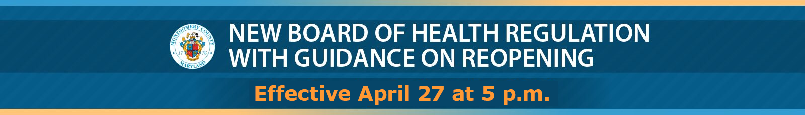 text of new board of health regulationwith guidance on reopening, effective April 27, at 5 p.m.