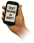image:text share to 80077 to donate $5 to community foundation