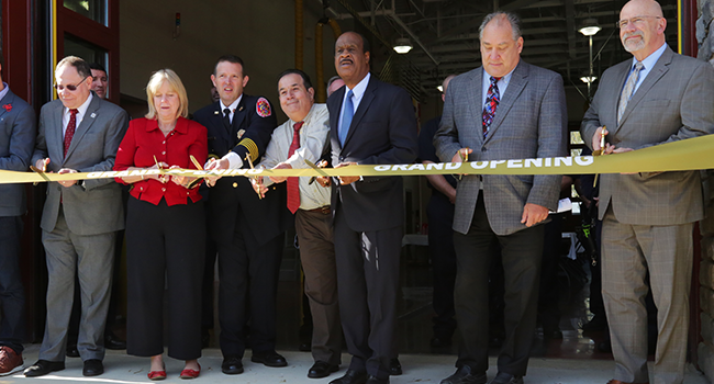 Montgomery County Executive Isiah Leggett celebrates the opening of the new 23,133 square-foot Glenmont Fire Station 18
