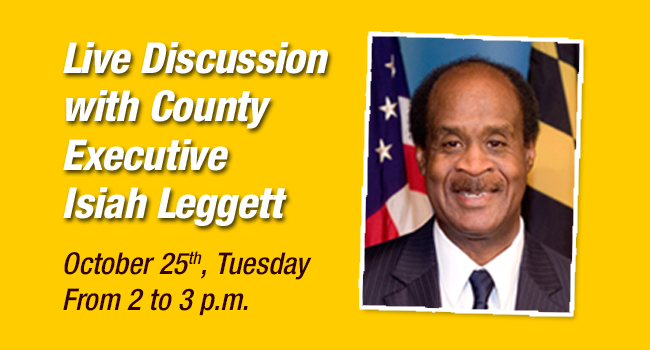 Live Discussion with County Executive Ike Leggett