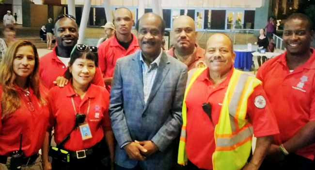 County Executive Leggett with the Red Shirt Team
