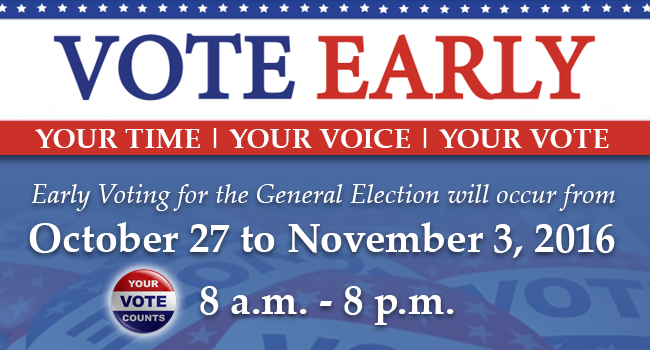 Save Time Vote Early