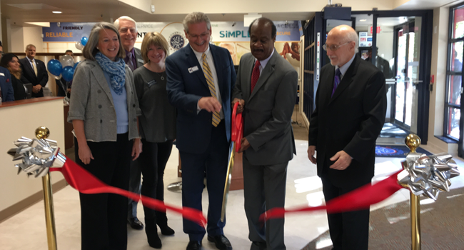 County Executive Ike Leggett participated in the ribbon-cutting for the grand reopening of the  Montgomery Employees Federal Credit Union (MCEFCU) Rockville Branch
