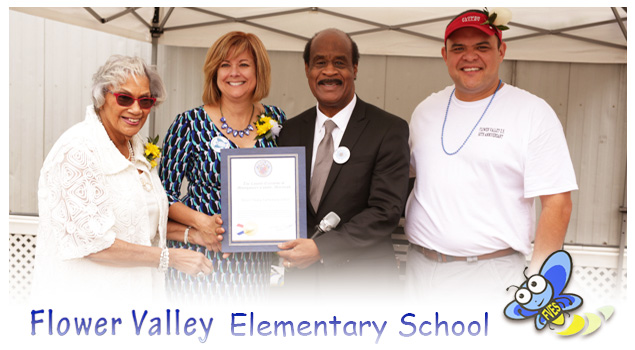 Leggett visited Flower Valley Elementary School to help them celebrate their 50th anniversary