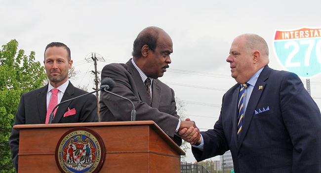 Photo: Hogan and Leggett Announce Advancement of I-270 Congestion Relief Project