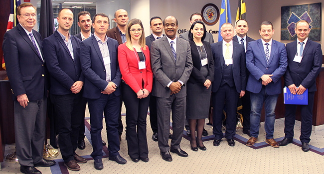 State Department Delegation from Kosovo and Macedonia