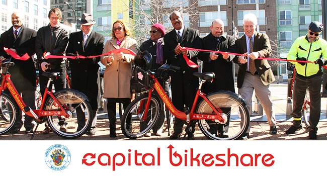 State and County Leaders Celebrate New Bikeshare Network in Wheaton