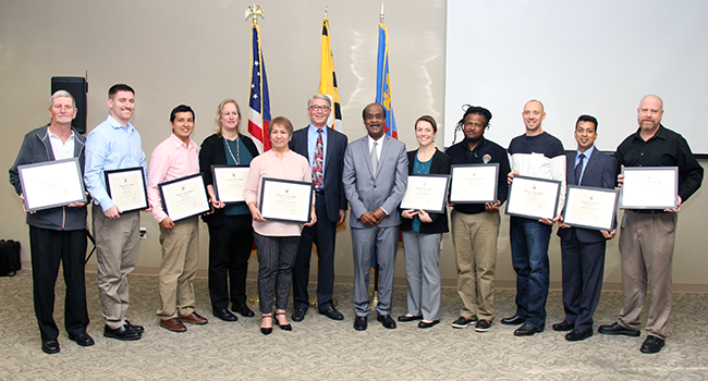 Photo: Employees Recognized at DLC Awards Ceremony