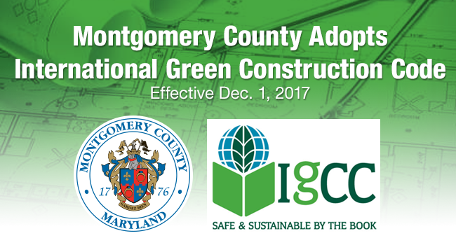 Montgomery County Adopts International Green Construction Code