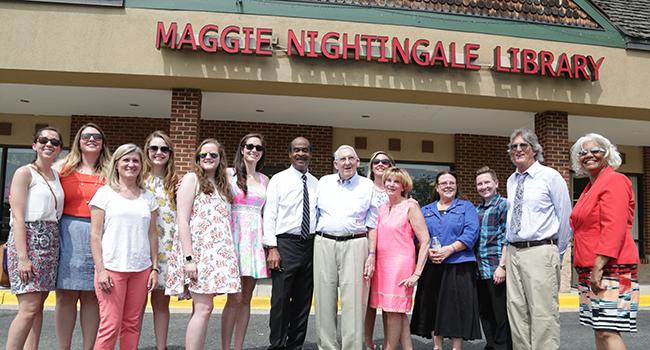 Photo: Poolesville Library Renamed to Honor Maggie Nightingale