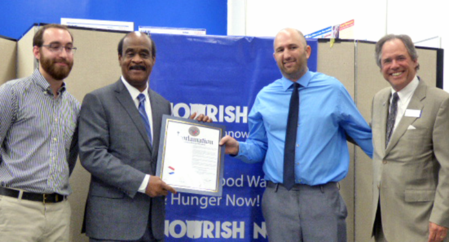 Photo: Nourish Now receives one million pounds of food