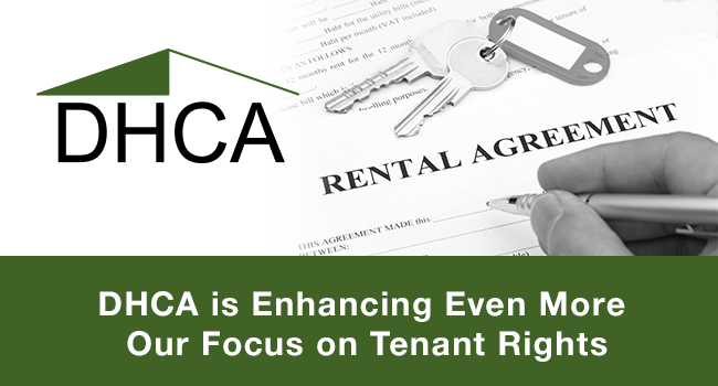 DHCA is Enhancing Even More Our Focus on Tenant Rights
