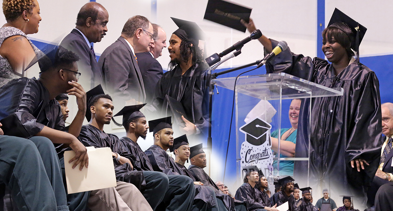Eighteen students were awarded their high school diploma or GED at the 12th annual commencement ceremony held at the County's Department of Correction and Rehabilitation